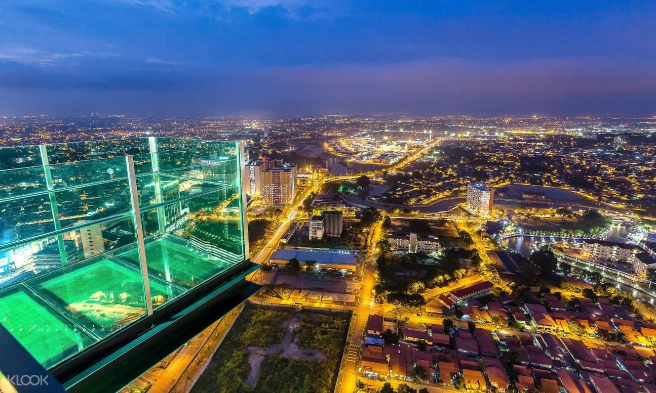 Sky Deck and view of Melaka city