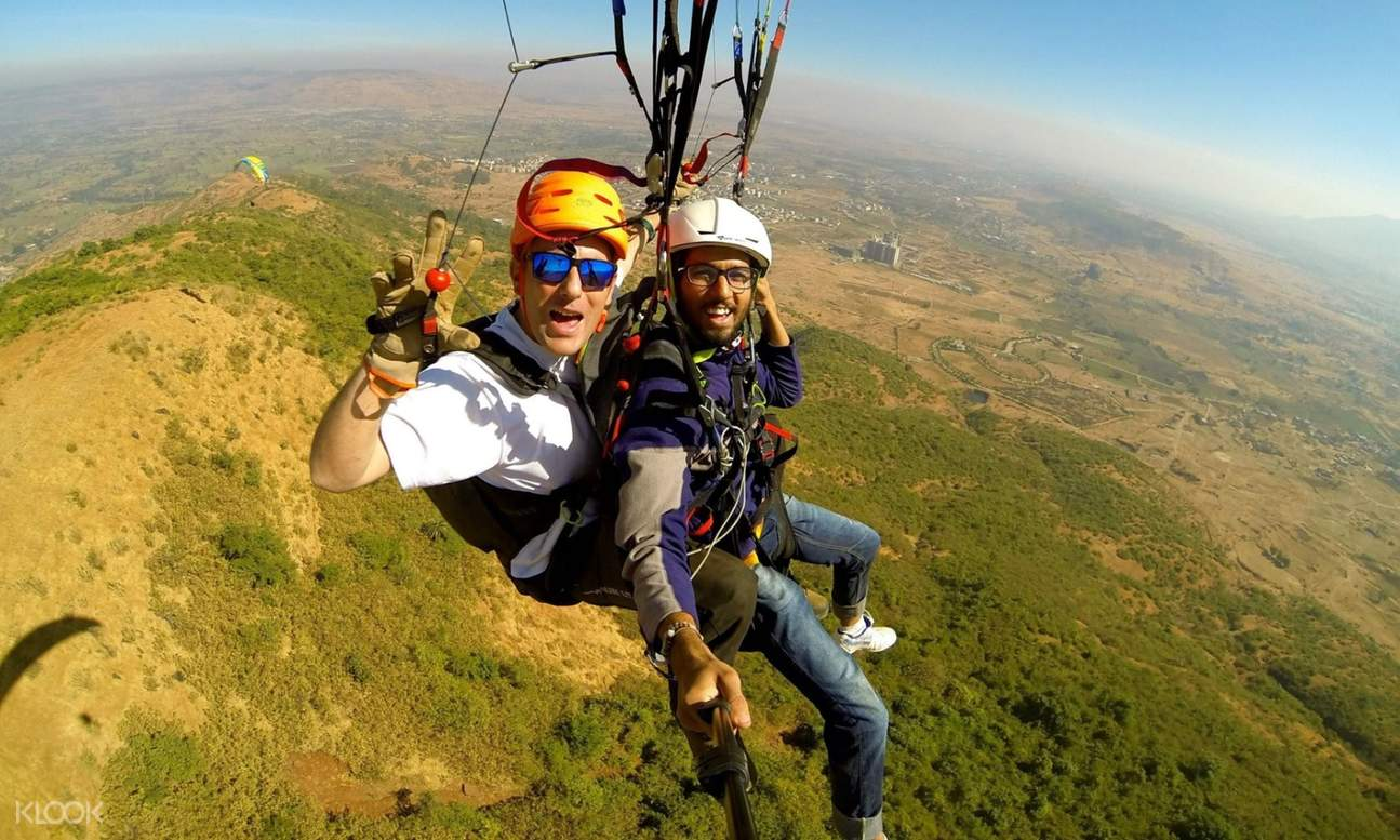 go pro and tandem paragliding kamshet