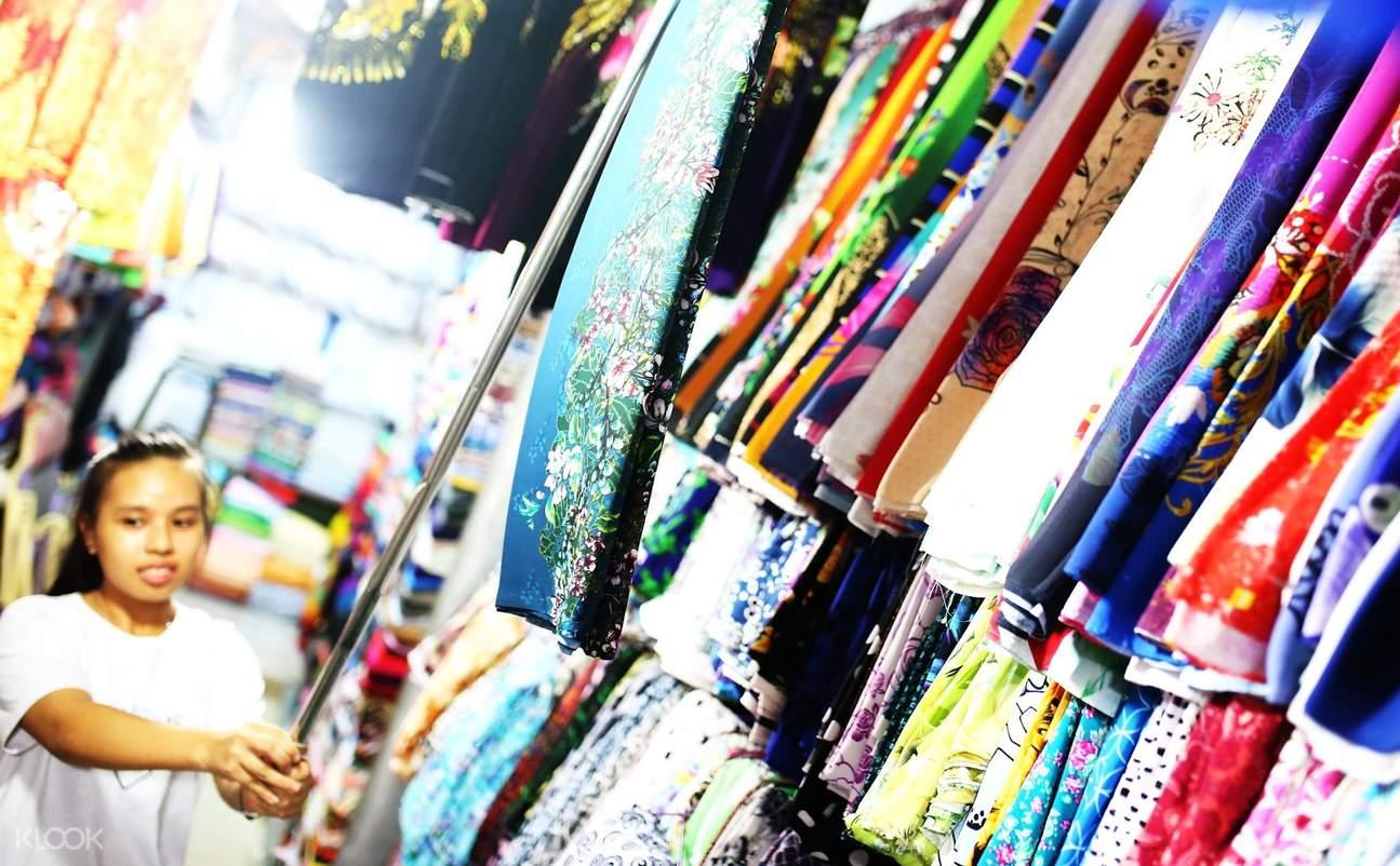 soai kinh lam fabric market saigon adventure day tour with aodai rider