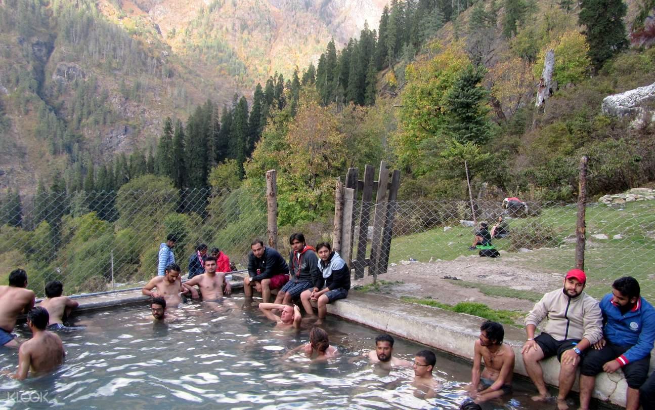 people in hot springs