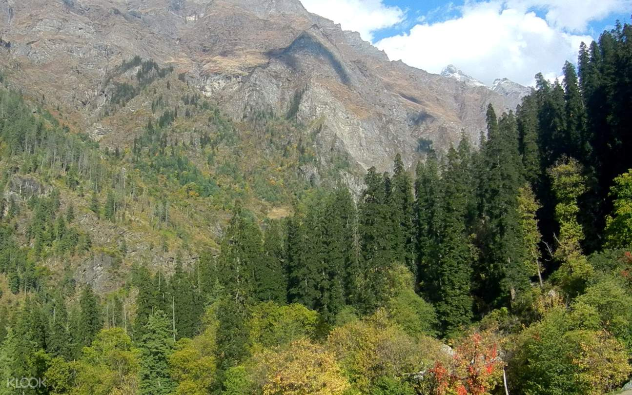snowy mountains to Kheerganga
