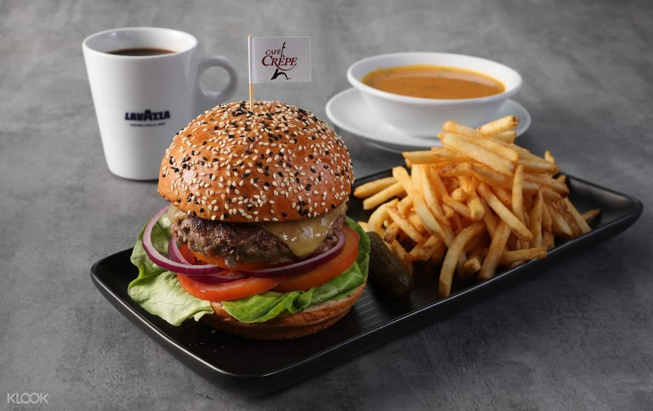 香港中环cafe crepe经典汉堡
