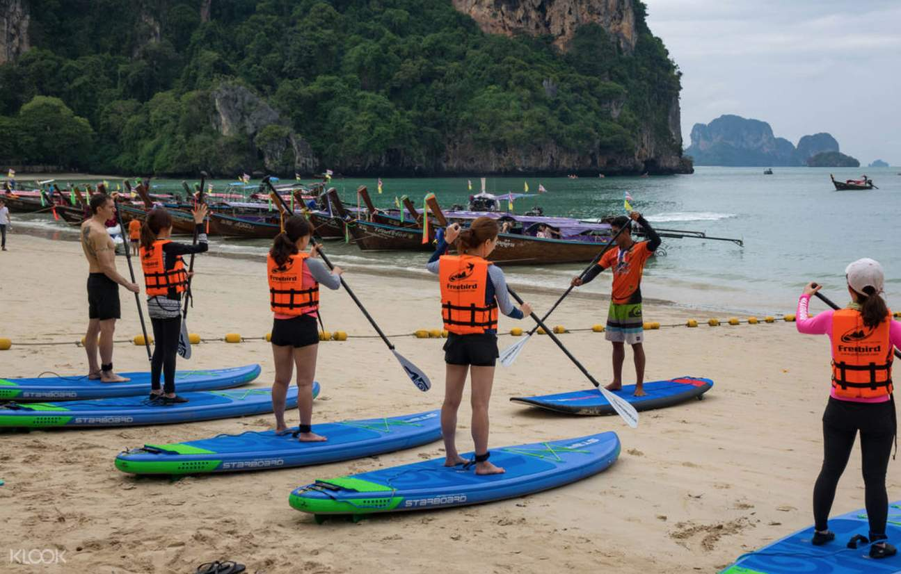 stand up paddle boarding railay west beach