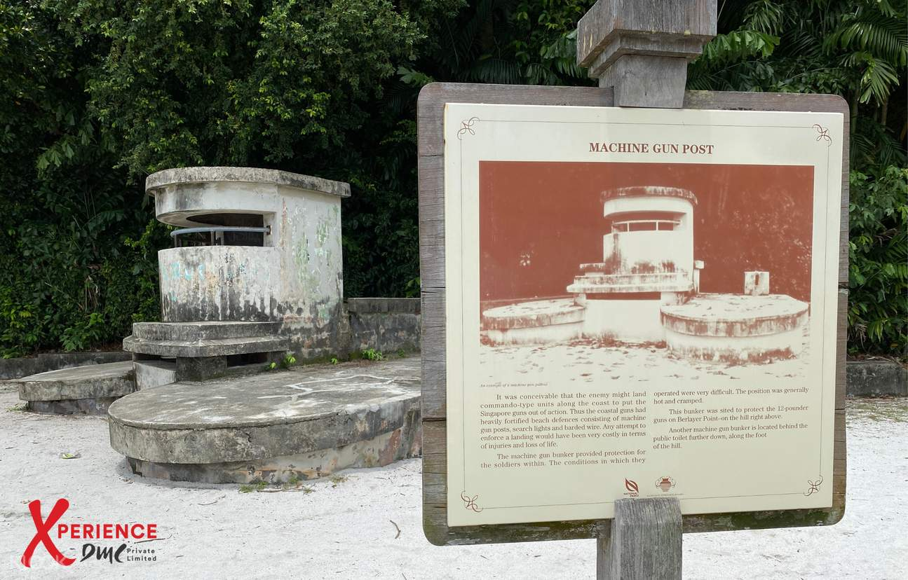 Pillboxes were built in the 1930s to strengthen Singapore's coastal defence