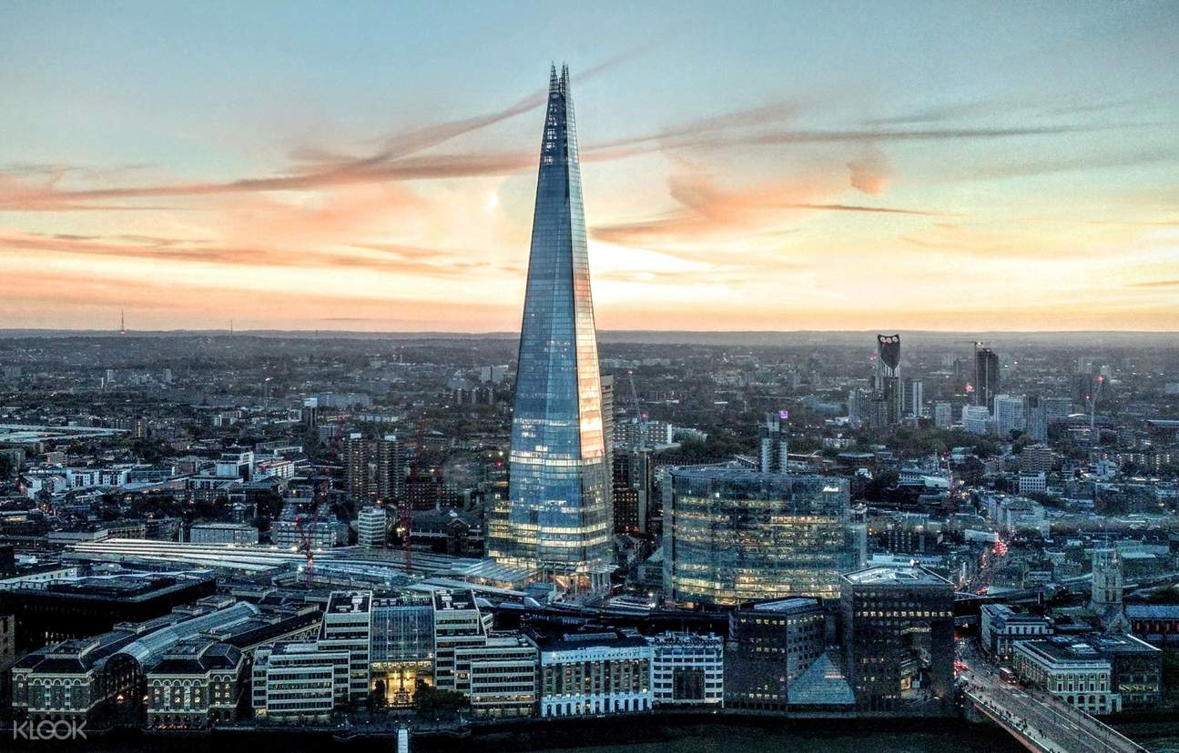 view of the entire london city on the shard