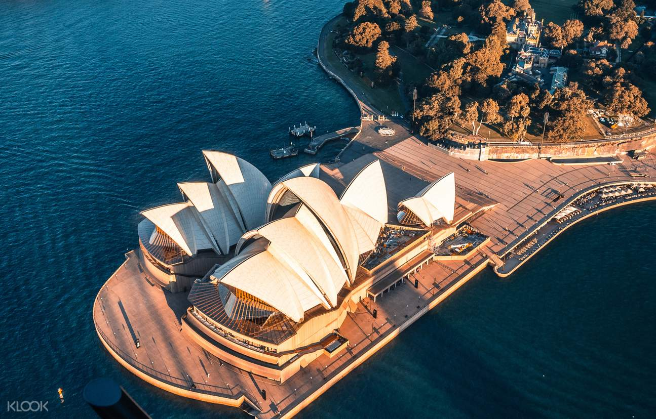 Opera house from the sky