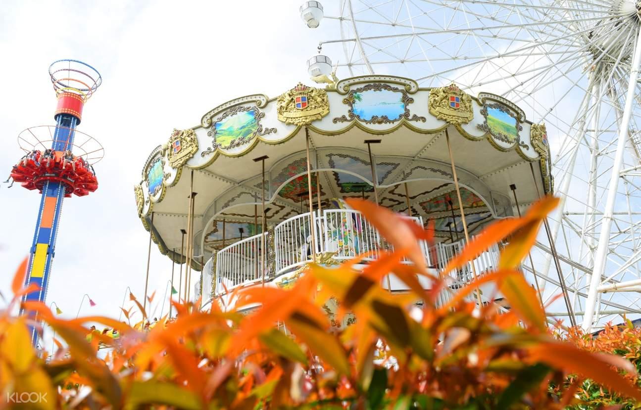Carousel ride at Sky Ranch Tagaytay