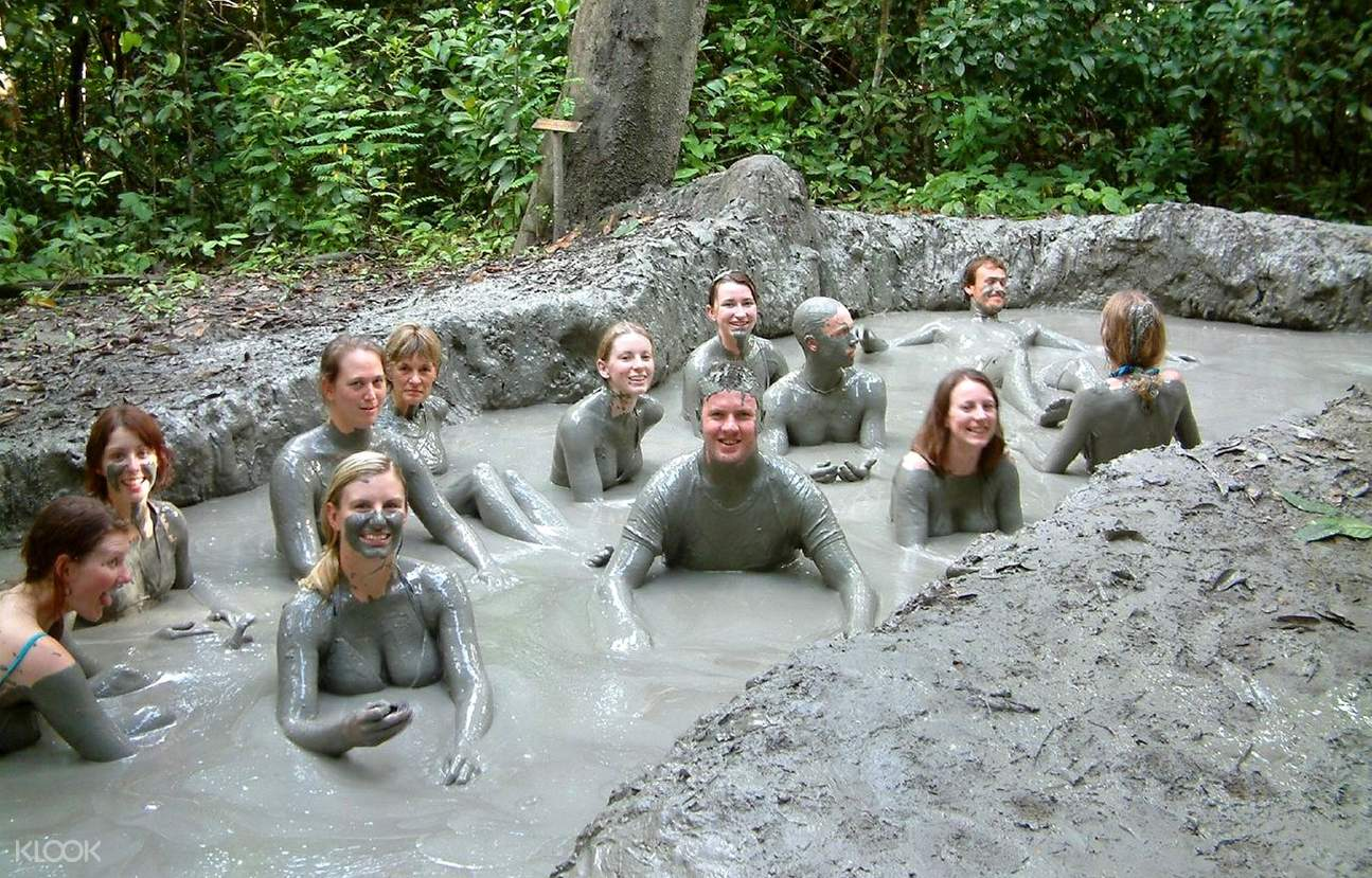 Volcano Mud Bath at Survivor Island (Pulau Tiga)