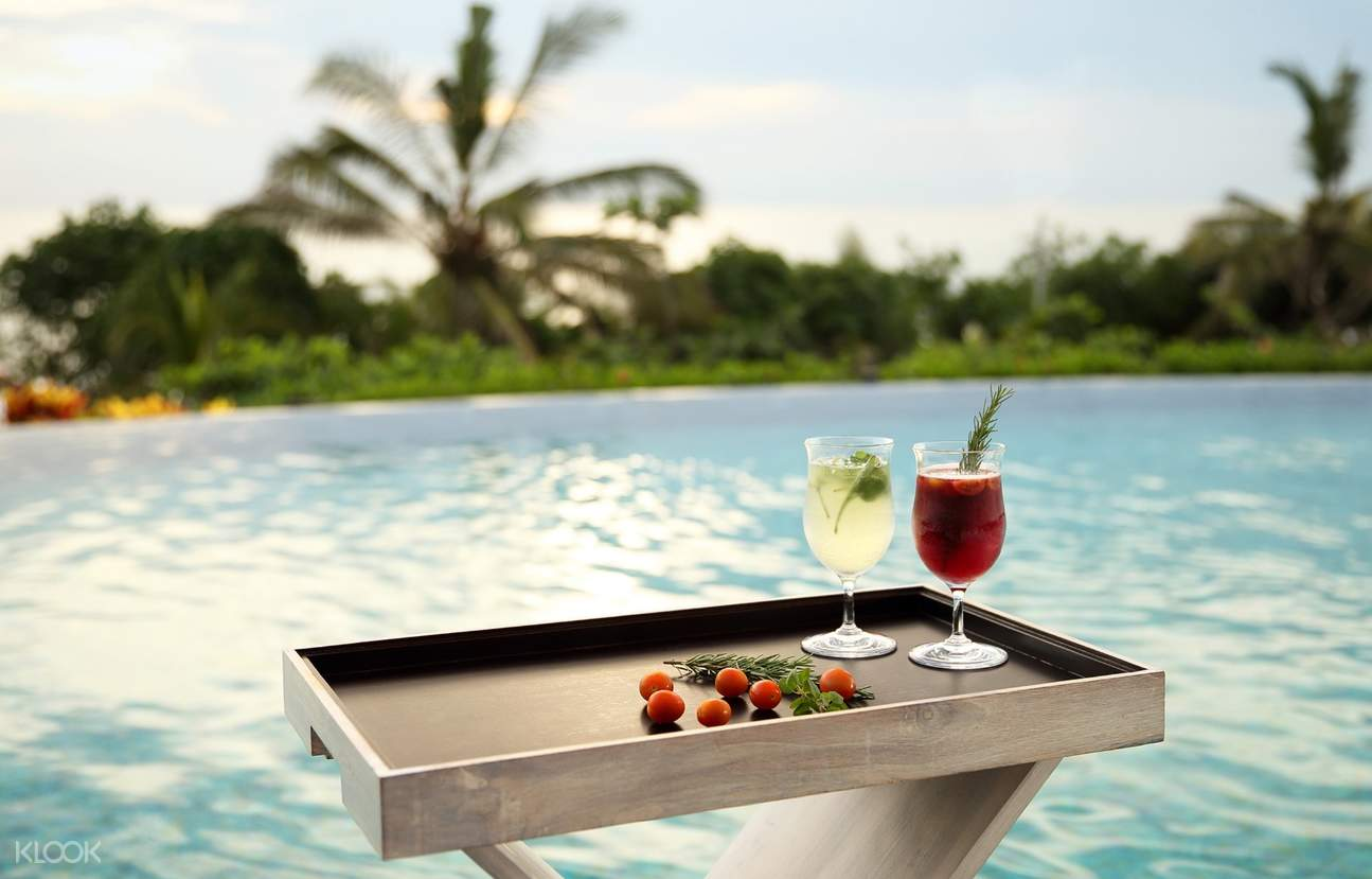 drinks by the pool at Sheraton Bali Kuta Resort