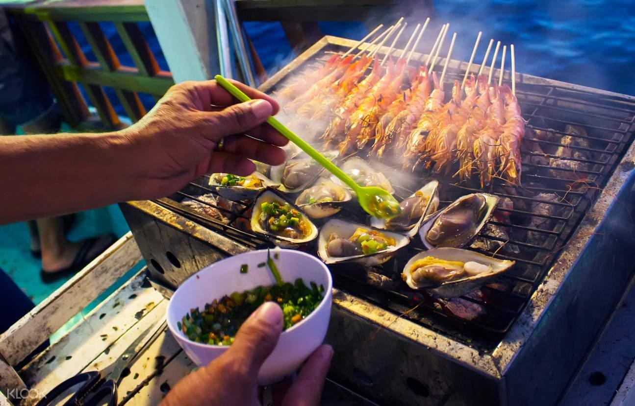 富国岛游轮美味晚餐