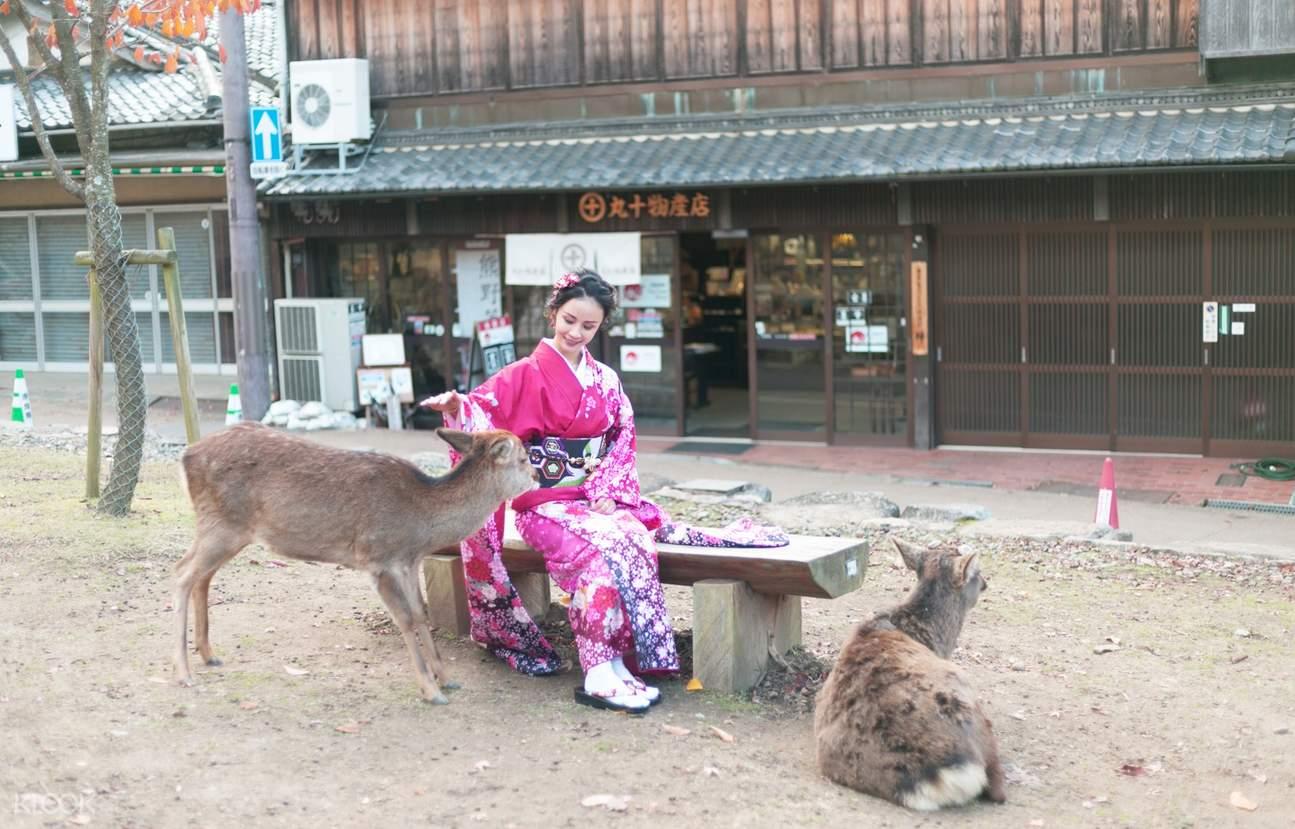 Mengenakan Kimono di Nara