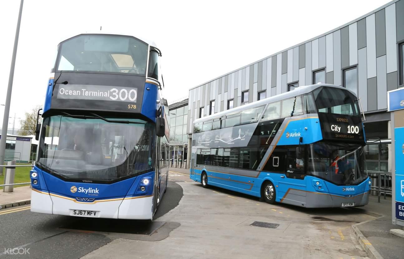 愛丁堡機場(EDI)至市區Airlink 100接駁巴士