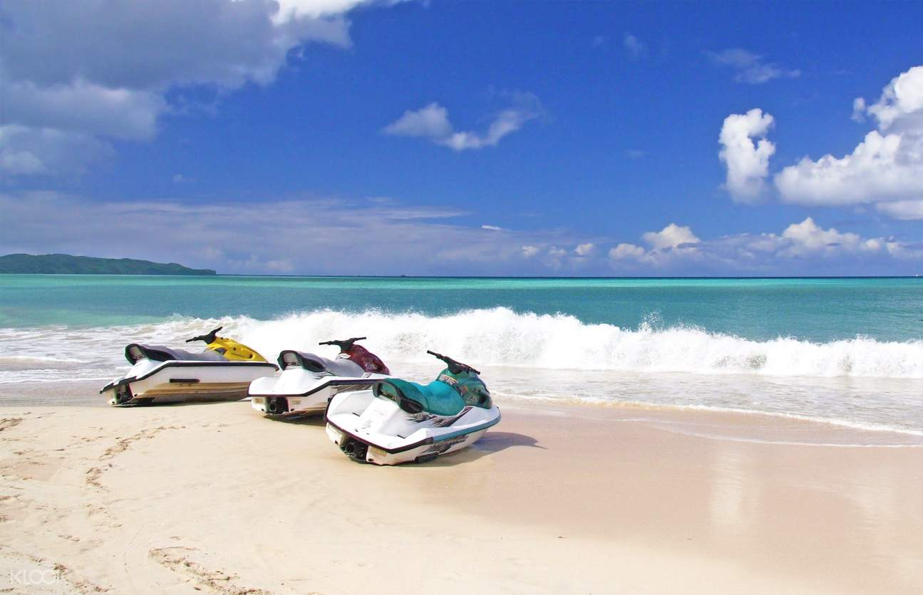 Parked jet ski on the beach