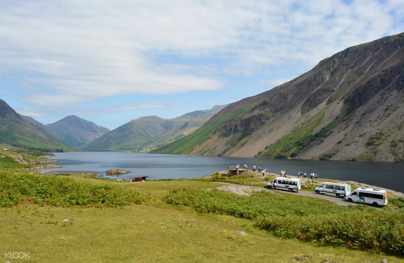 mountain views and lake