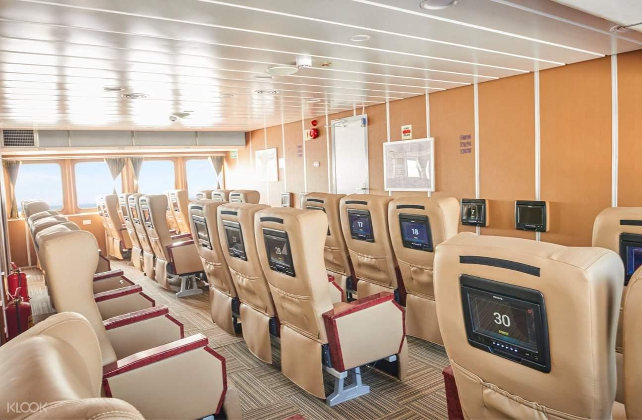 ghế ngồi trên tàu cao tốc vũng tàu côn đảo