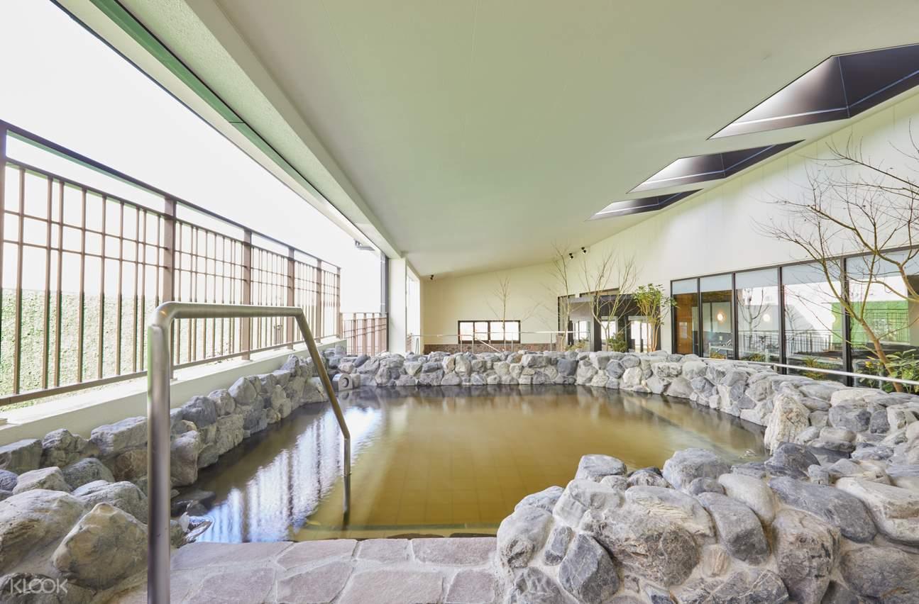 an indoor onsen