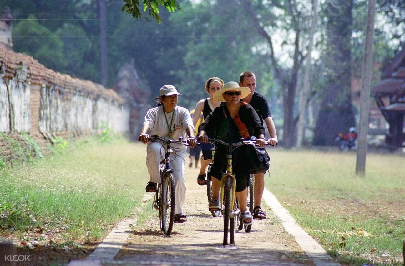 Biking to the village
