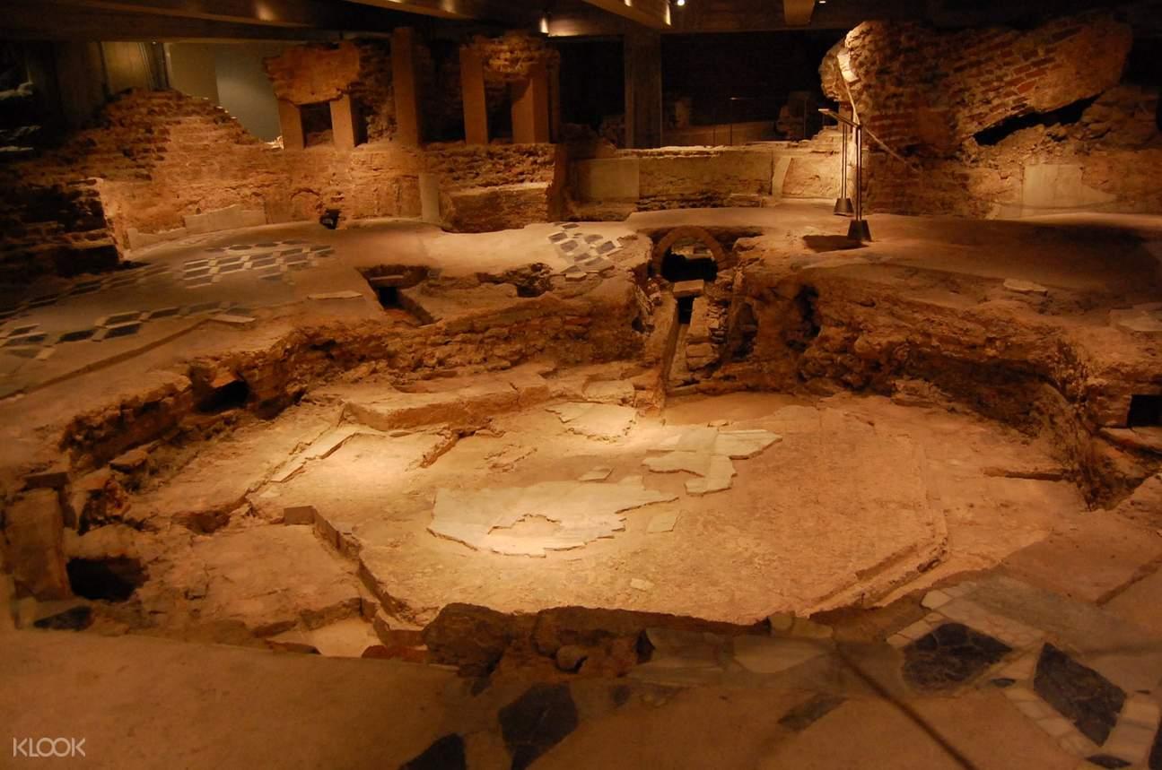 underground site of the milan duomo