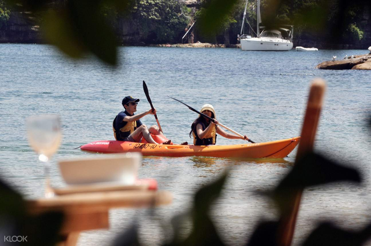 kayaking manly