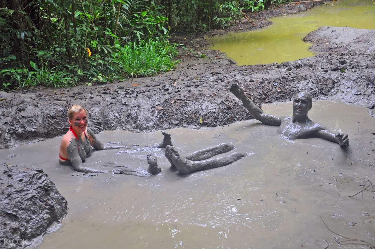 volcanic mud bath in sabah