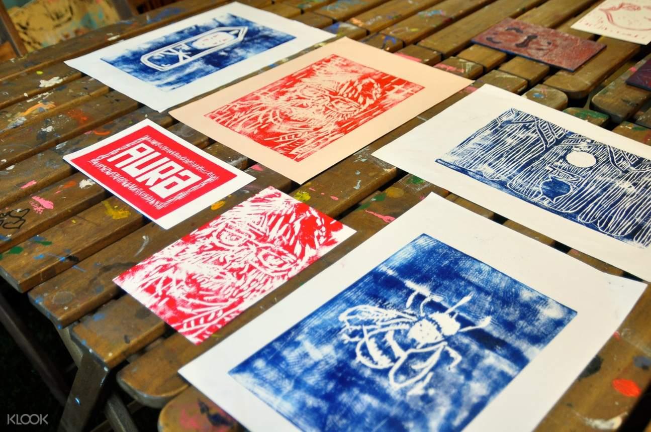 printmaking art class in hong kong