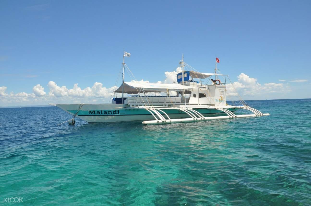 a boat in Mactan's waters