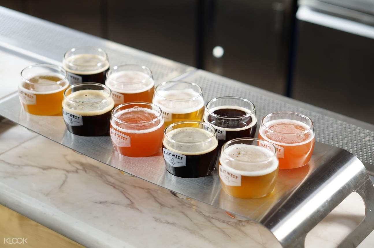east brewery tasting flight sampler