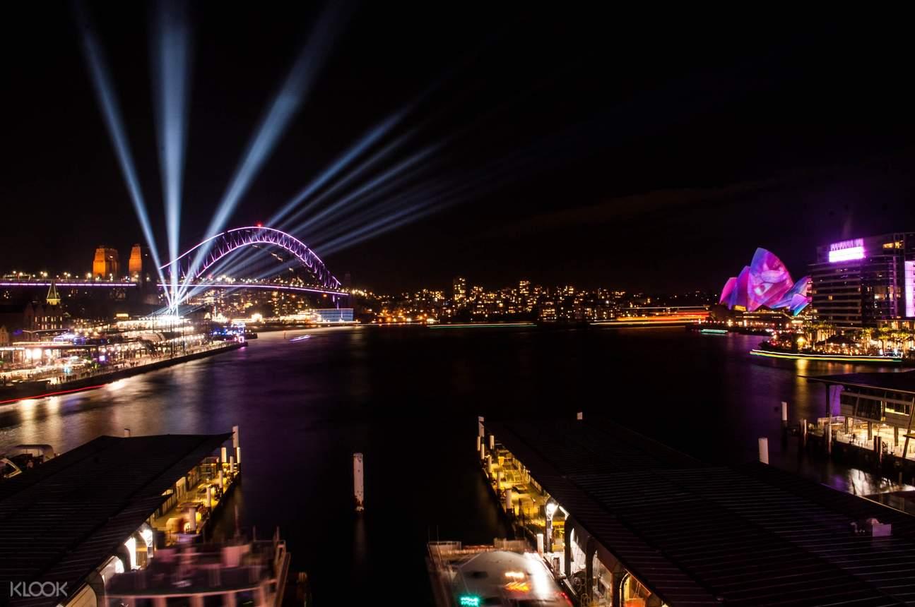 night lights in Sydney