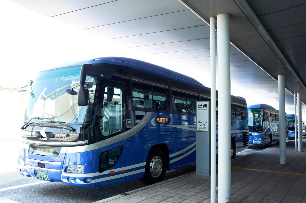 a bus waiting at kansai international airport