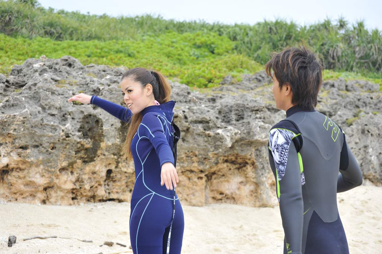 surfing in Okinawa