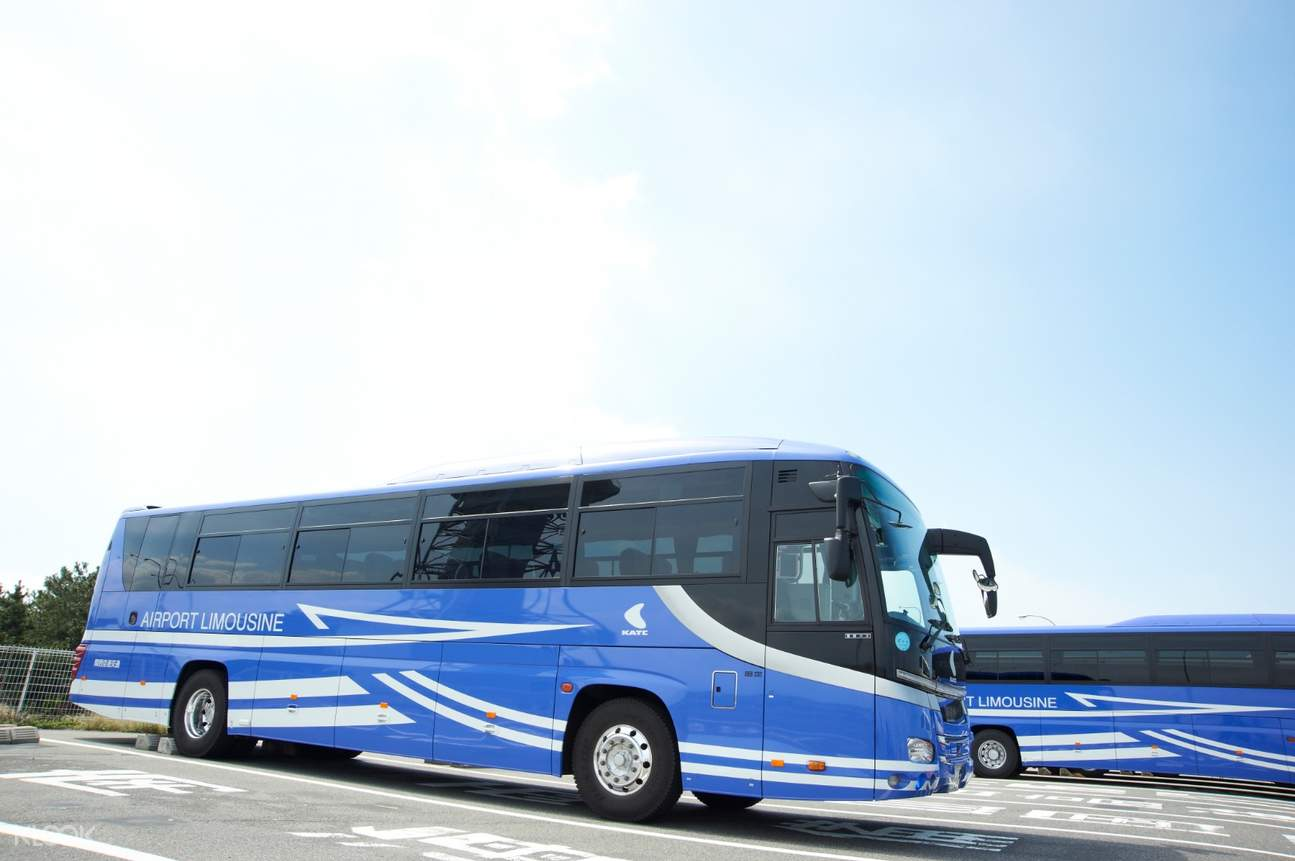 a kansai international airport bus traveling in japan