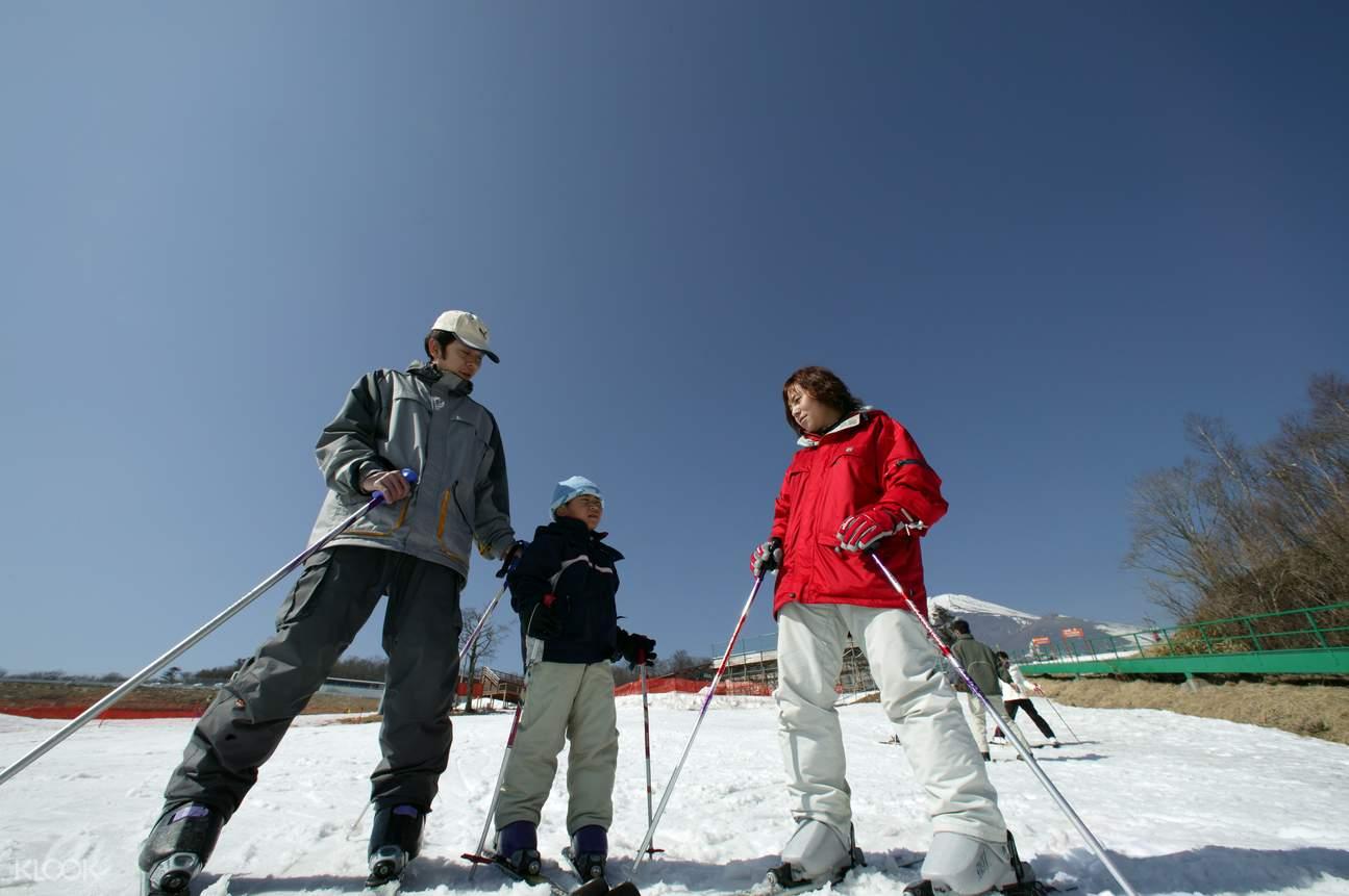 snow town yeti mount fuji ski trip