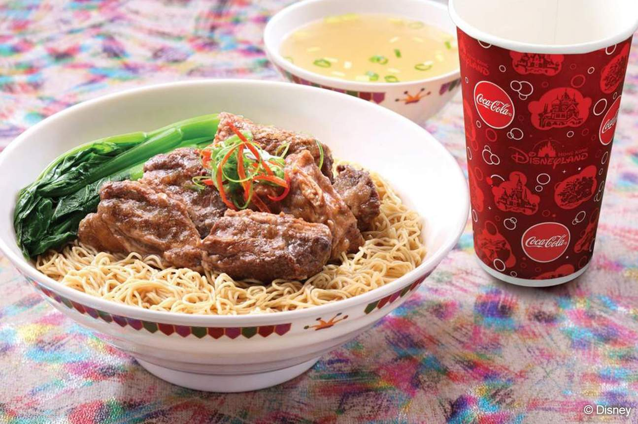 Hong Kong Disneyland's beef noodle soup