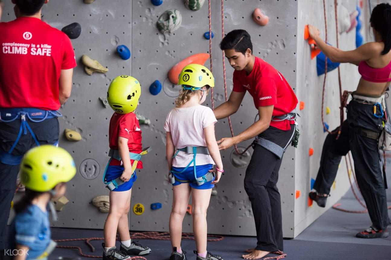 Kids climbing at Camp 5 in Kuala Lumpur