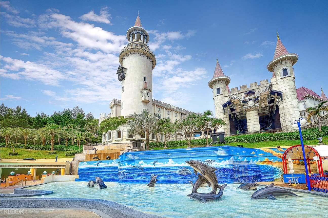 海豚3D立體彩繪背景
