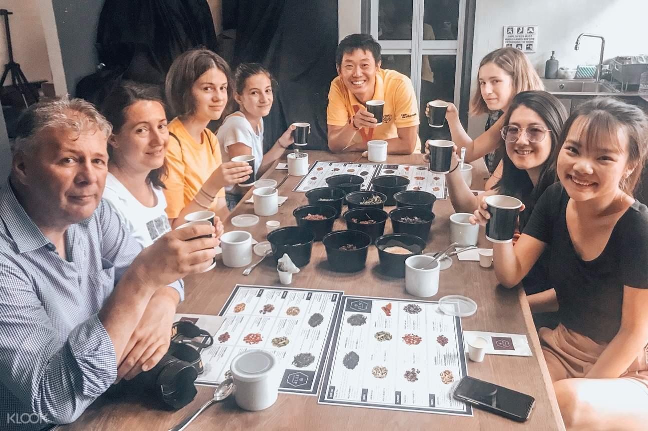 Tea sampling session