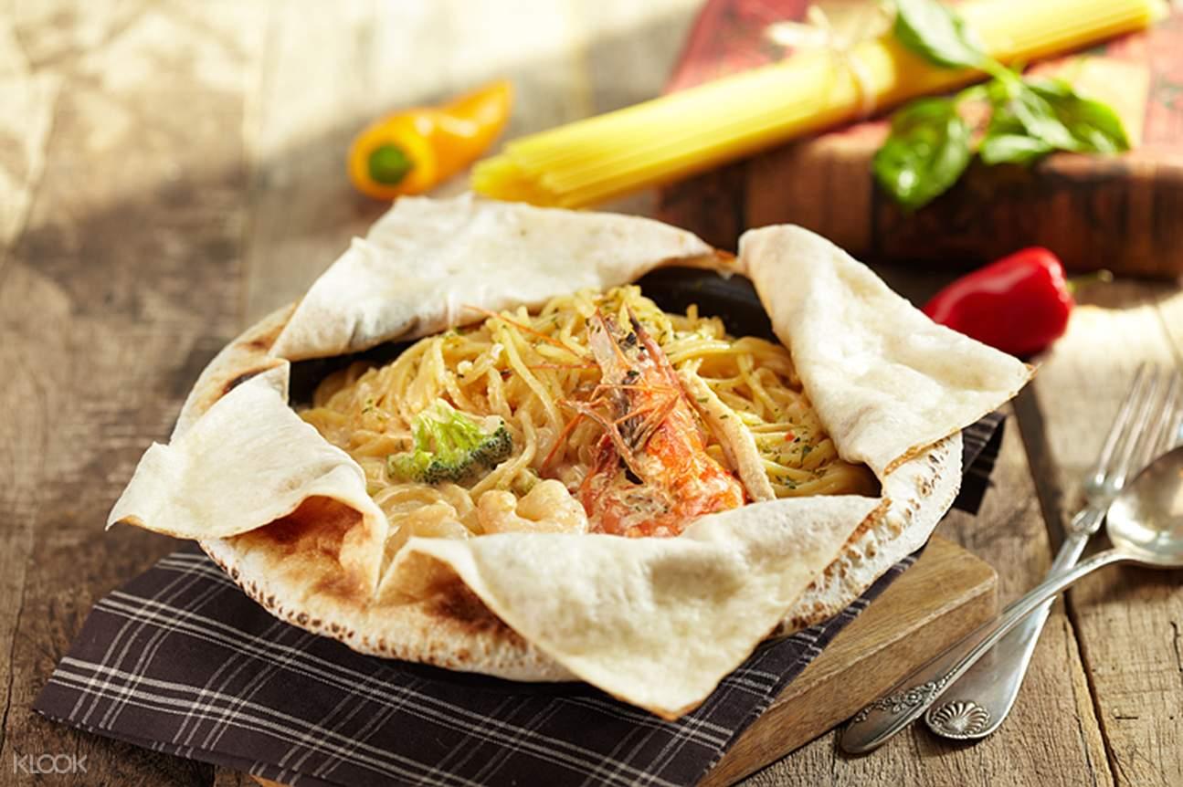 KITCHEN LAB Creamy shrimp pasta Myeongdong Seoul