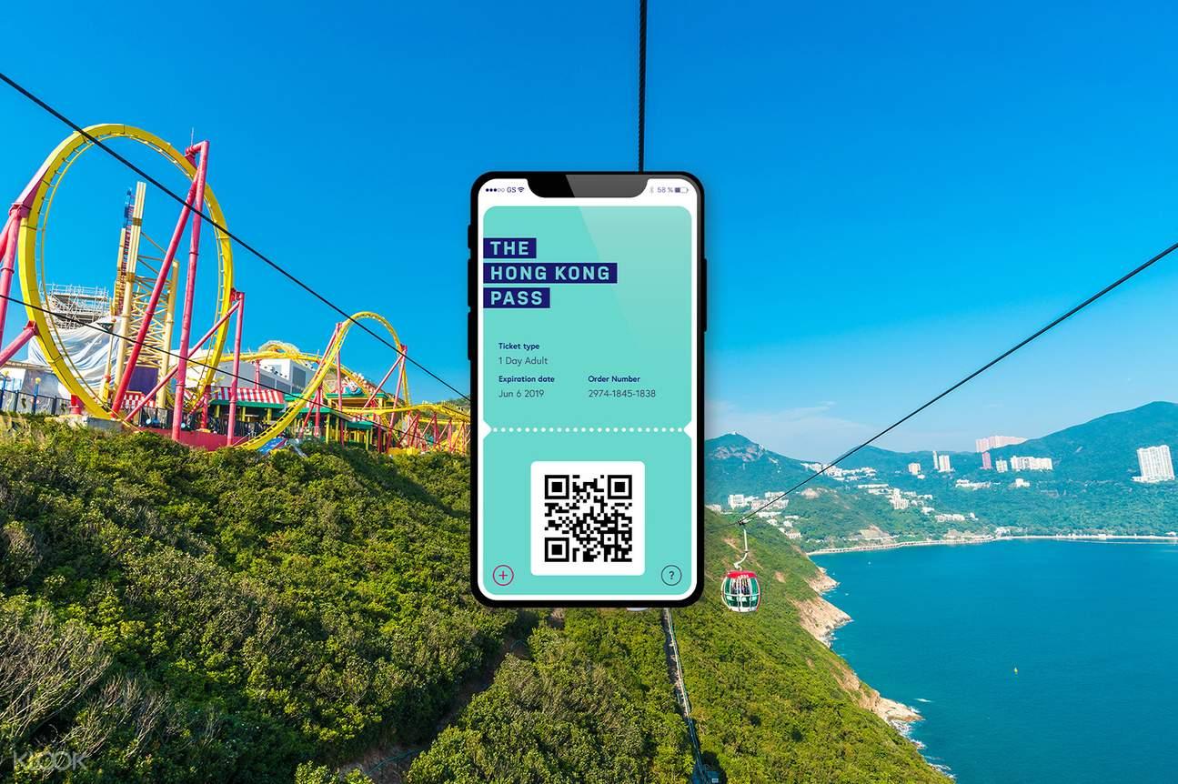 cable car at Hong Kong Ocean Park