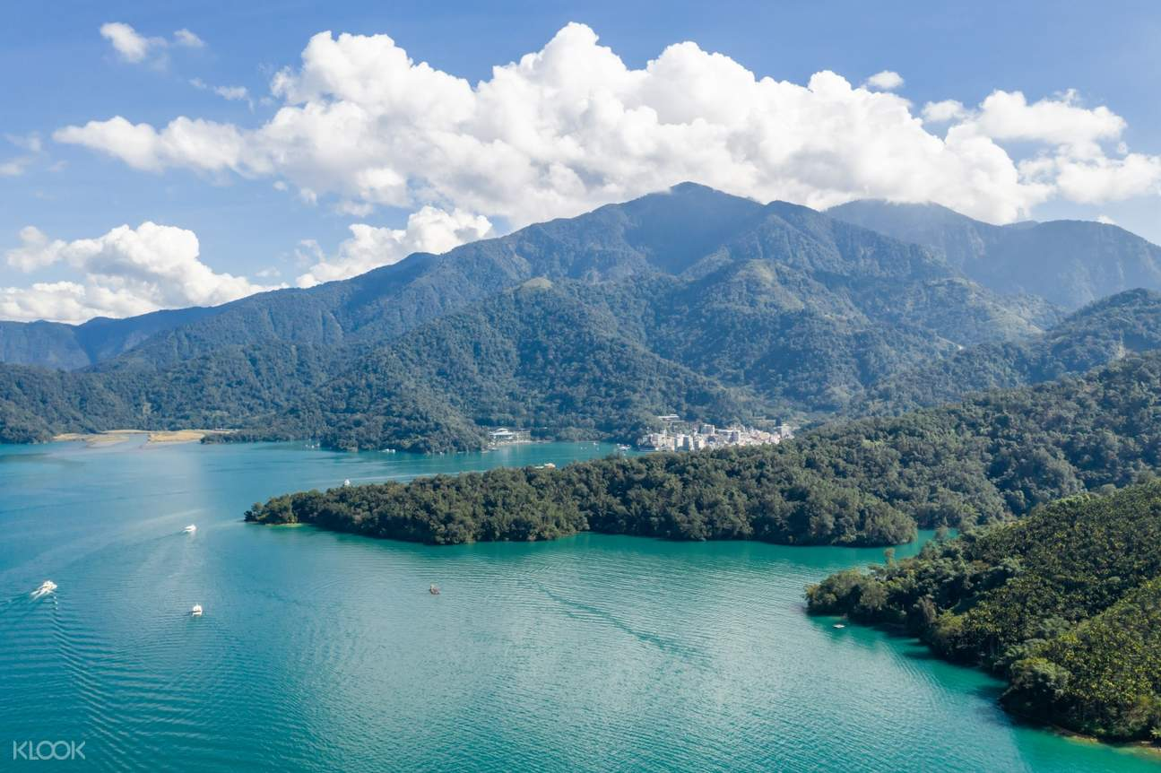sun moon lake panoramic view