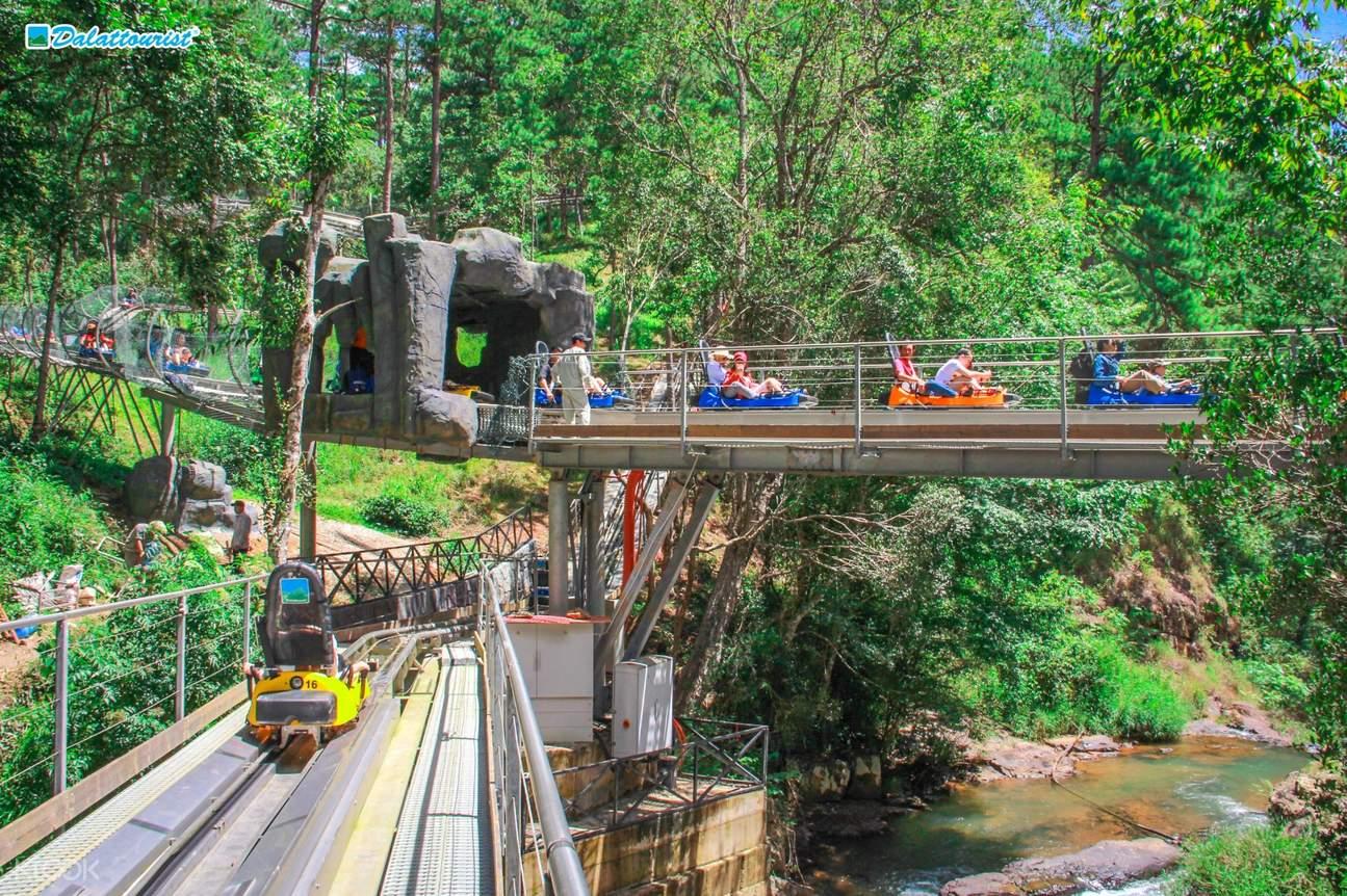 Asia's Longest Coaster Trail at Datanla New Alpine Coaster in Da Lat