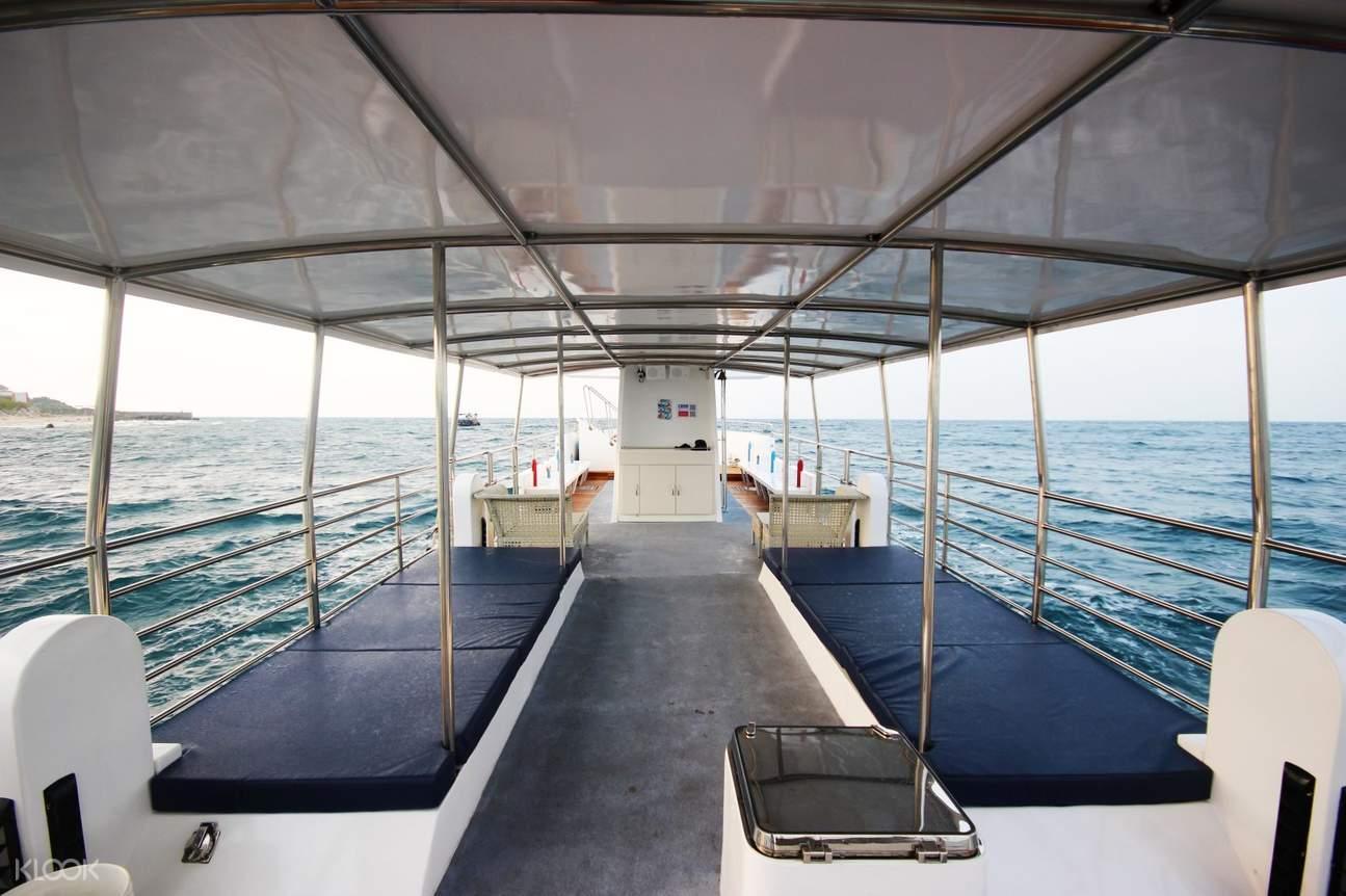 小琉球潛艇上的座位