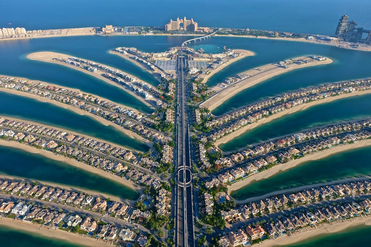 Capture The Palm Jumeirah from The View.