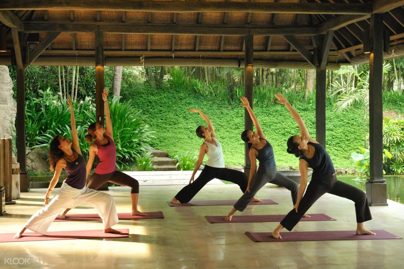 Women during yoga session at The Farm at San Benito in Batangas