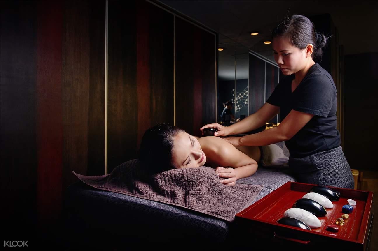 woman having a massage at thann sanctuary