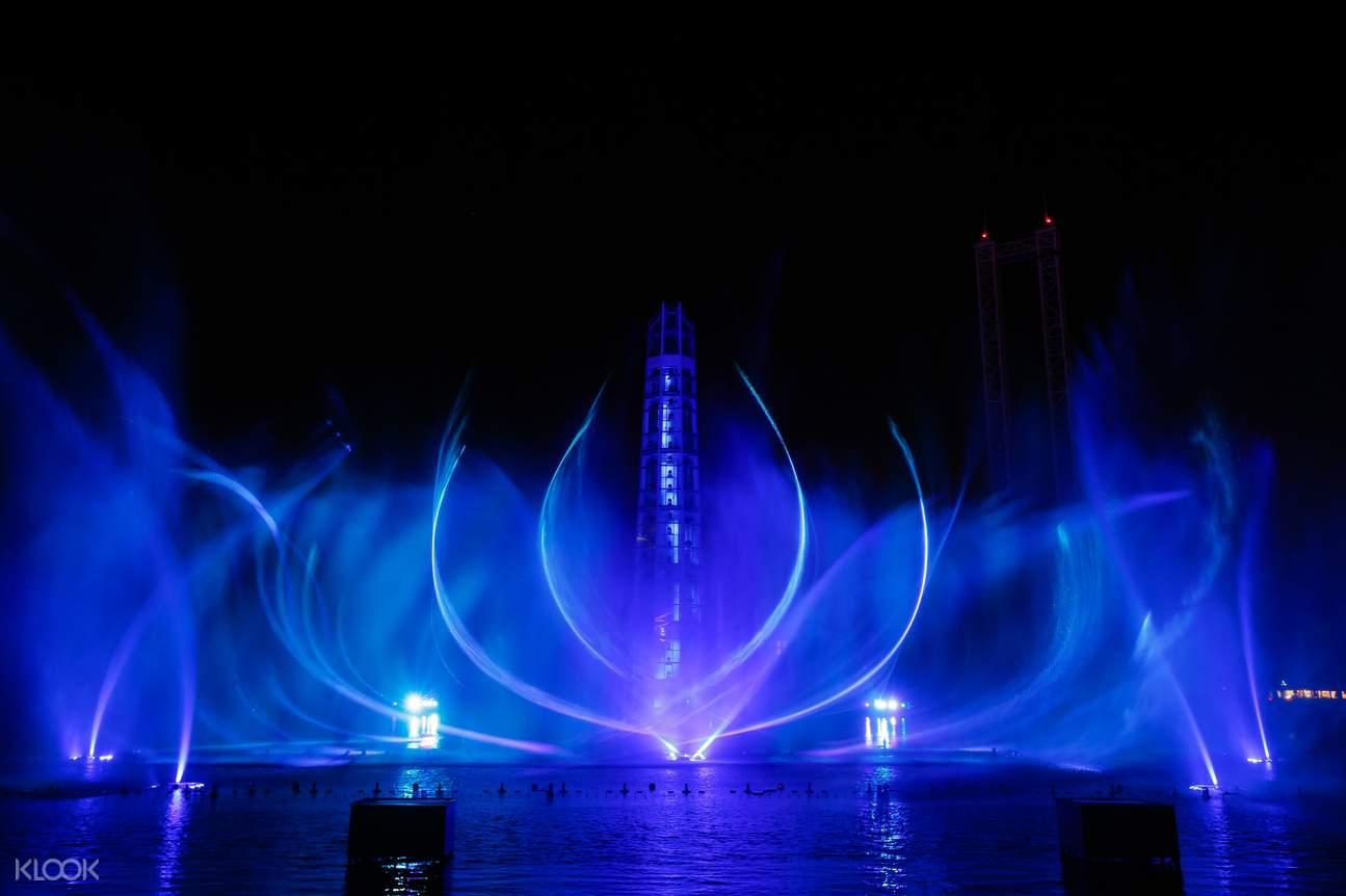 上海欢乐谷,天幕水极