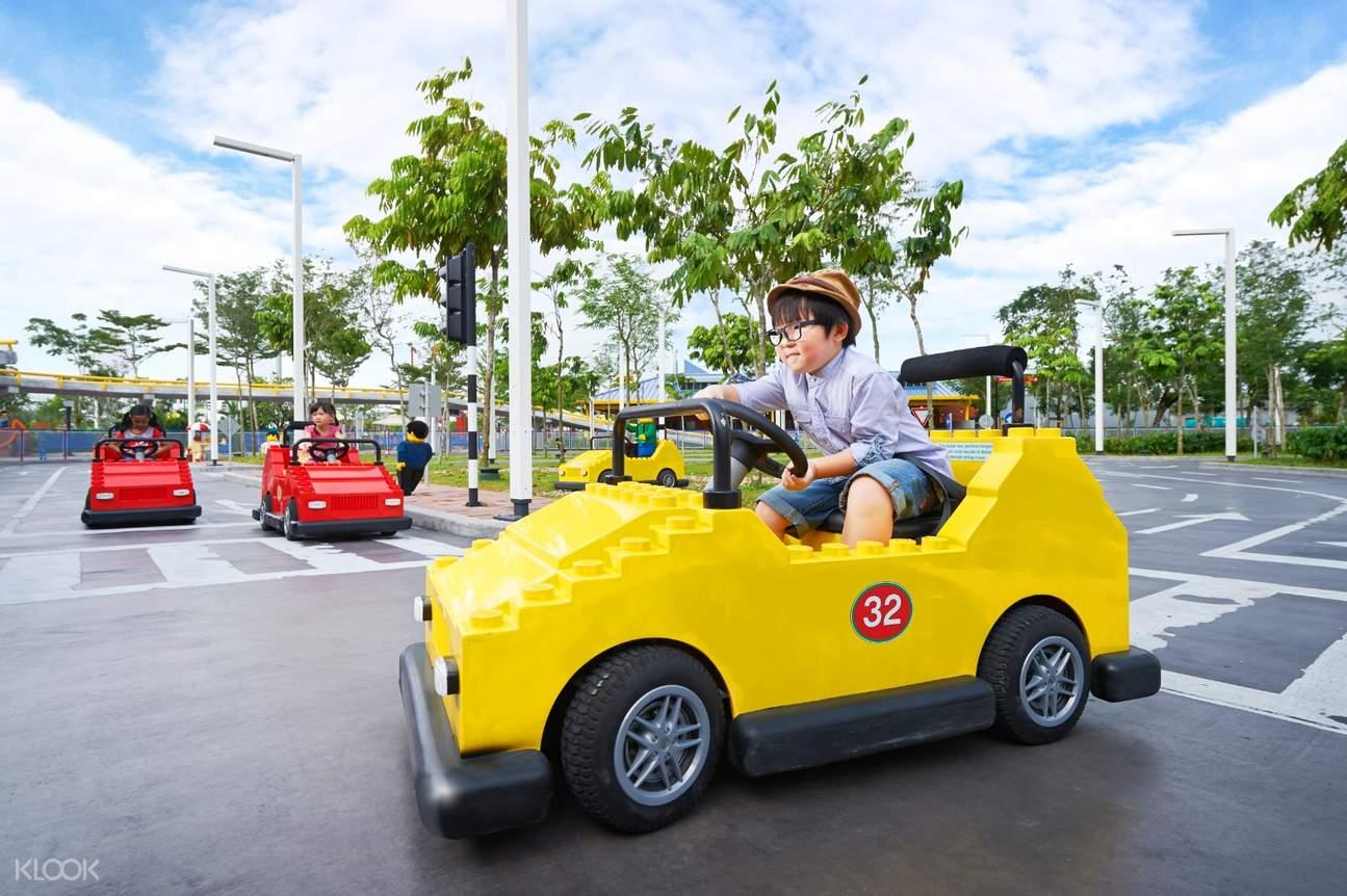 a boy driving
