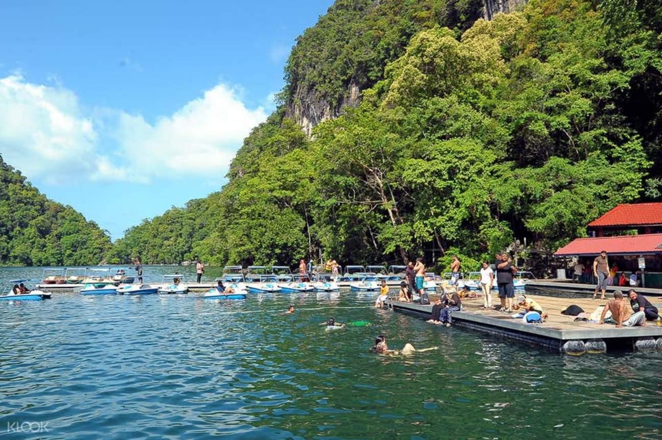 Boats docked in Langkawi