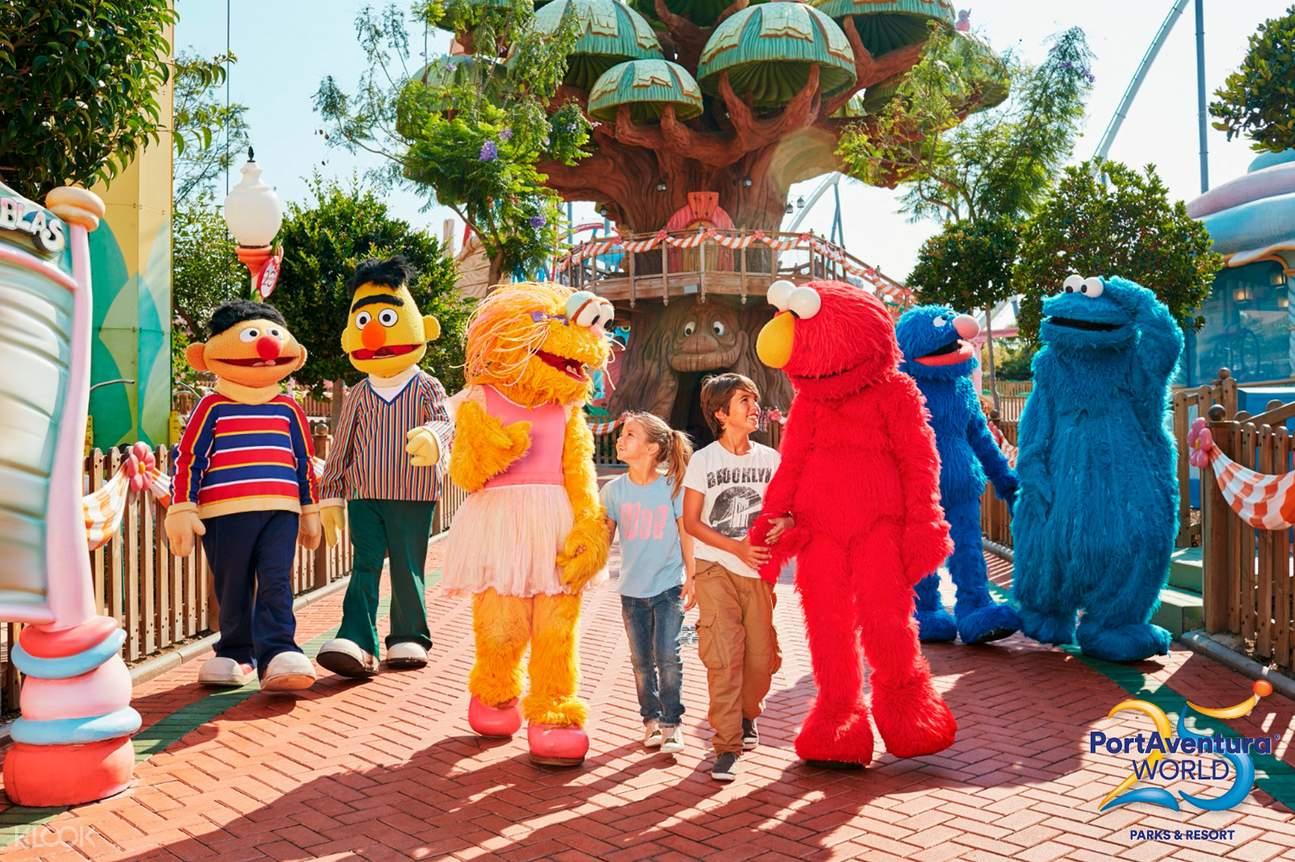 sesame street characters in PortAventura Amusement Park Ticket in Salou