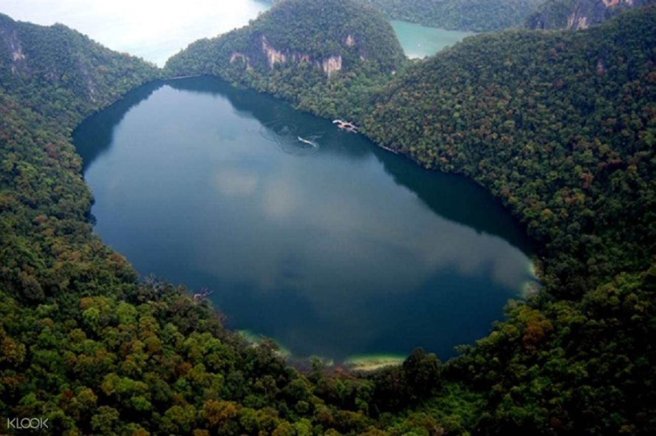 Aerial view of islands in Langkawi