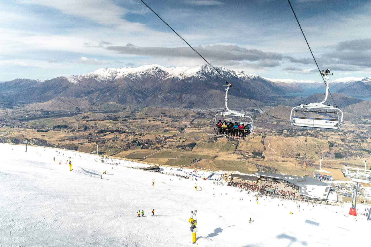 Use the ski lift pass at Coronet Peak Ski Resort to easily transport your rental skis and snowboards